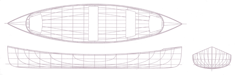 Ruderboot Bauplan Stoney Lake 16`